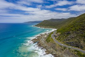 Aerial View Of Great Ocean Road In Australia