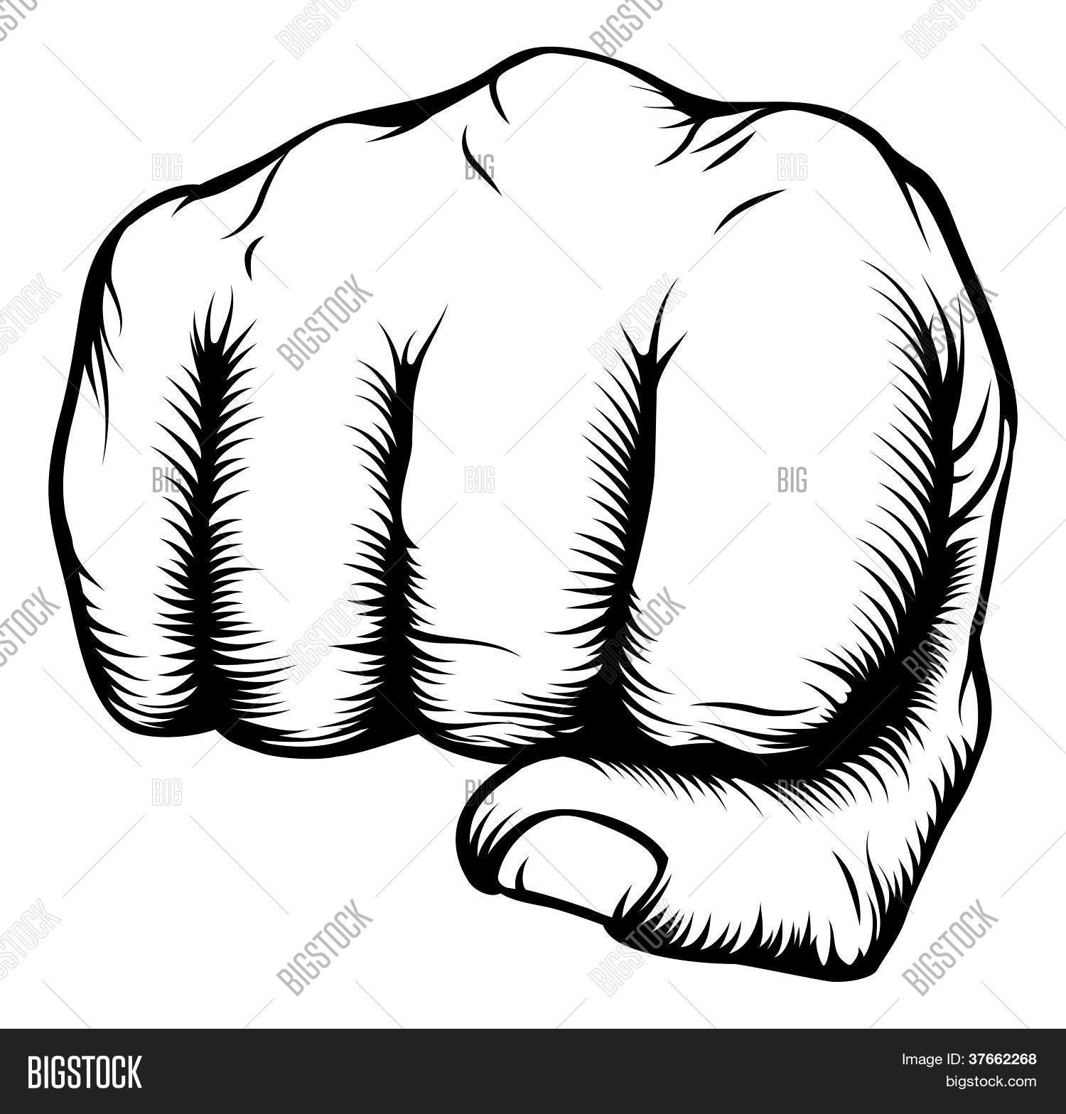 Hand Fist Punching Vector Photo Free Trial Bigstock