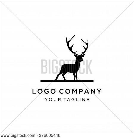 Deer Stand Logo Icon Designs Vector, Creative Design Logo Vector. Deer Illustration