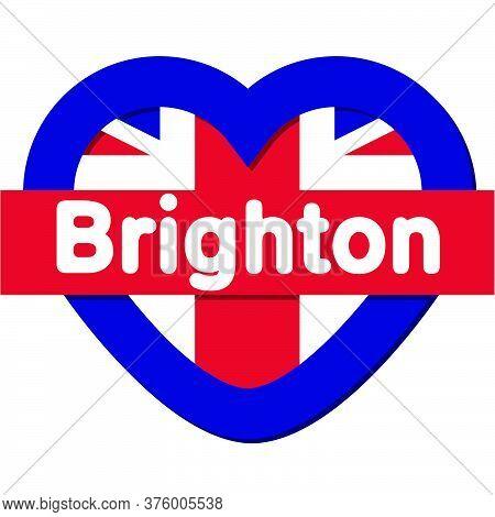 Love Brighton City - City In England, Vector Collection