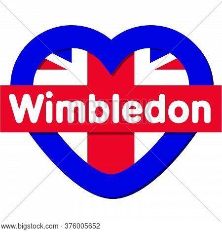 Love Wimbledon City - Heart Vector Collection