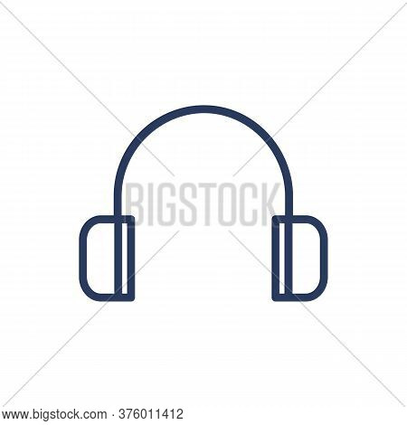Earmuff Hearing Protective Device Thin Line Icon. Ear, Headset, Wearing Isolated Outline Sign. Work