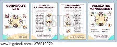 Corporate Law Brochure Template. Delegating And Managing. Flyer, Booklet, Leaflet Print, Cover Desig