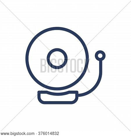 Alarm Bell Thin Line Icon. Signal, Sound, Loudness Isolated Outline Sign. Work Safety And Protection