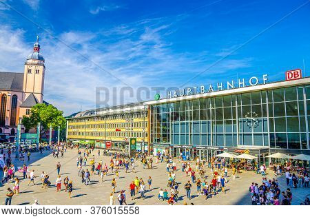 Cologne, Germany, August 23, 2019: Cologne Main Station Koln Hauptbahnhof Railway Station Building A