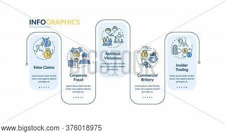 Organizational Crimes Vector Infographic Template. Corporate Crime And Fraud. Presentation Design El