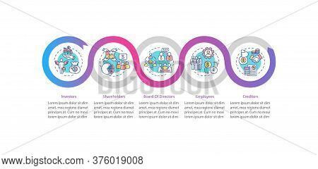 Corporate Players Vector Infographic Template. People In Corporations. Presentation Design Elements.