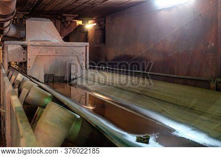 Belt Conveyor Of Iron Ore Crushing And Screening Factory