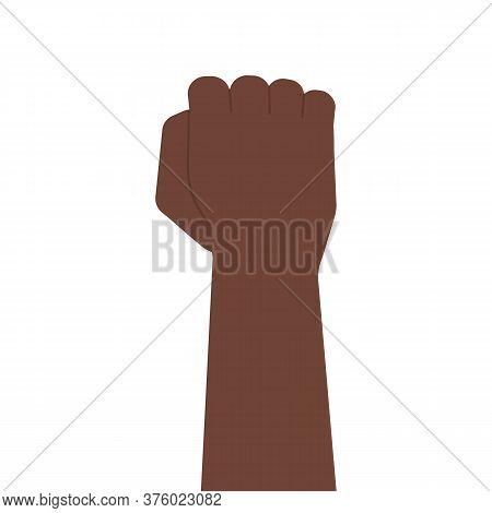 Afroamerican Black Fist, Raised Clenched Hand. Blacklivesmatter, Anti-racism, Revolution, Strike Con