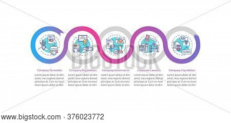 Corporation Life Cycle Vector Infographic Template. Establishing Business. Presentation Design Eleme