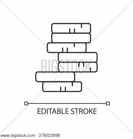 Stack Of Coins Linear Icon. Pile Of Money. Growing Income. Investment In Gold. Stock Earning. Thin L