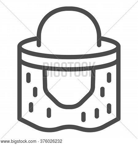 Beekeeper Hat Line Icon, Beekeeping Concept, Beekeeping Professional Clothing Sign On White Backgrou