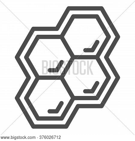 Honeycomb Line Icon, Honey And Bee Concept, Honey Cells On White Background, Bee Hexagon Honeycomb I