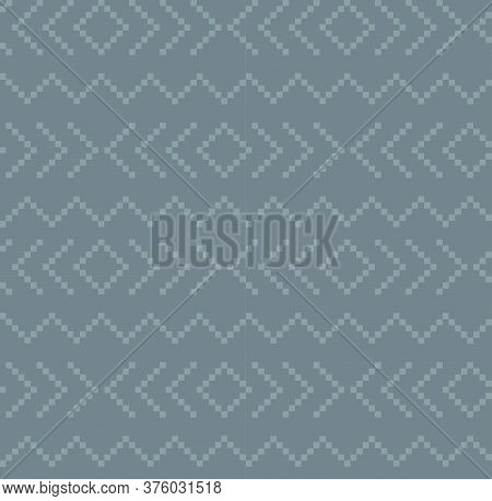 Grey Christmas Fair Isle Seamless Pattern Background