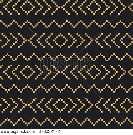 Brown Christmas Fair Isle Seamless Pattern Background