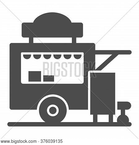 Trailer Kiosk Solid Icon, Street Food Concept, Street Kiosk Sign On White Background, Food Trailer I