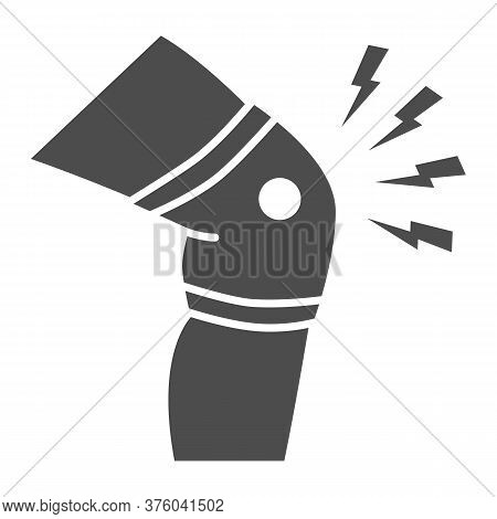 Knee Pain Solid Icon, Body Pain Concept, Discomfort In Joint Leg Sign On White Background, Leg Ache