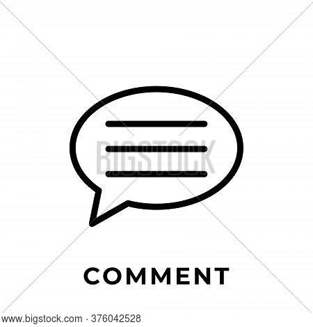 Comment. Comment icon. Comment vector. Comment icon vector. Comment illustration. Comment logo template. Comment button. Comment symbol. Comment sign. comment icon design. Comment vector icon flat design for web icons, logo, symbol, app, UI.