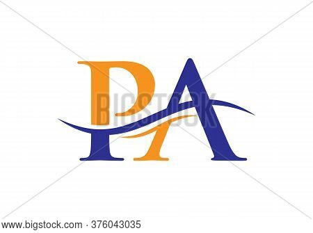 Pa Logo Vector. Pa Letter Modern Business Logo. Abstract Letter Pa Logo Design.