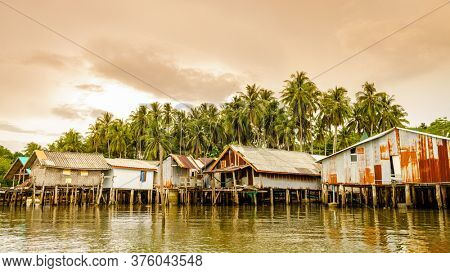Muslim fishing village on Ko Yao Yai island in the Andaman Sea, Thailand