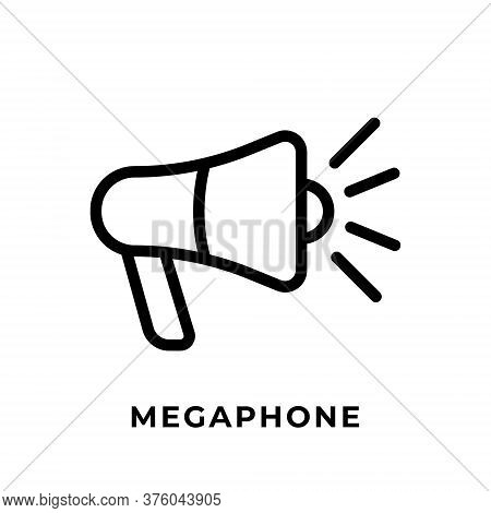 Megaphone. Megaphone icon. Megaphone vector. Megaphone icon vector. Megaphone illustration. Megaphone logo template. Megaphone button. Megaphone symbol. Megaphone sign. Megaphone vector icon design for web icons, logo, symbol, banner, app, UI.
