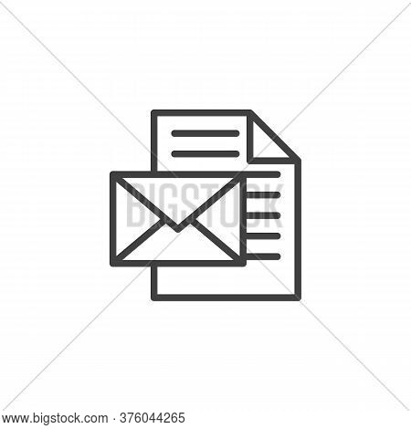 Envelope Message Line Icon. Linear Style Sign For Mobile Concept And Web Design. Newsletter Document