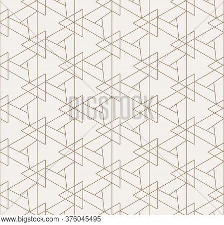 Continuous Wave Vector Triangular, Deco Texture. Repetitive Elegant Graphic Triangle Pattern Pattern