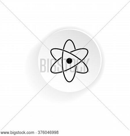 Molecular Atom Neutron Icon. Vector On Isolated White Background. Eps 10