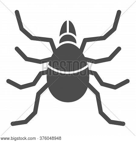 Mite Solid Icon, Insects Concept, Acarus Sign On White Background, Tick Icon In Glyph Style For Mobi
