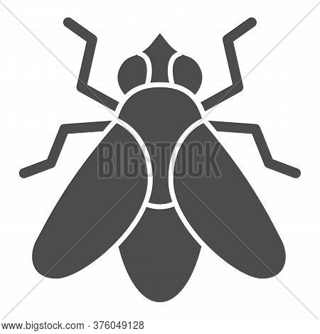 Fly Solid Icon, Insects Concept, Fly Insect Sign On White Background, Fly Silhouette Icon In Glyph S