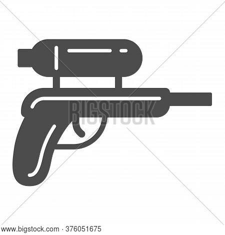 Water Gun Solid Icon, Kids Toys Concept, Gun Toy Sign On White Background, Water Pistol Icon In Glyp