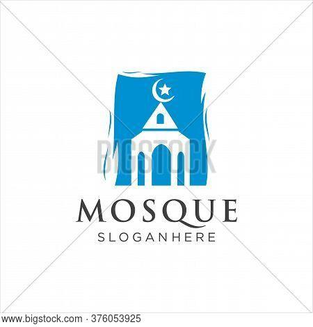 Islamic Mosque Logo Vector Icon Stock Vector. Arabic Muslim Logo Design Template. Masjid Logo Icon R