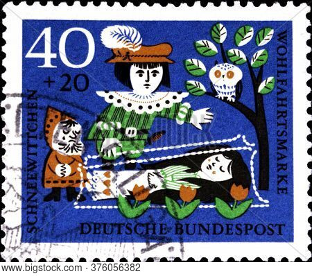 02 08 2020 Divnoe Stavropol Territory Russia The Germany Postage Stamp 1962 Welfare: Stories Of The