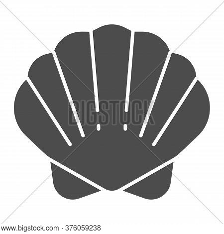 Shell Solid Icon, Ocean Concept, Shellfish Shell Sign On White Background, Seashell Icon In Glyph St