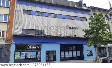 Antwerp, Belgium, July 2020: View On Monty Theatre In The Montignystraat