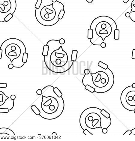Helpdesk Icon In Flat Style. Headphone Vector Illustration On White Isolated Background. Chat Operat