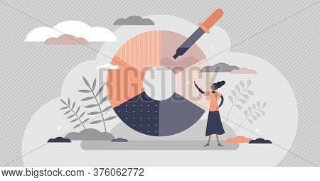 Color Picker For Designers Paint And Ink Selection Flat Tiny Persons Concept. Pipette For Tone Spect