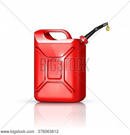 Jerry Can Oil Refinery Industry Equipment Vector Illustration