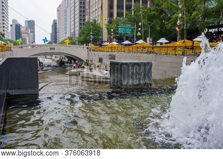 Seoul, South Korea - 1 June 2014, The Canal In South Korea Name