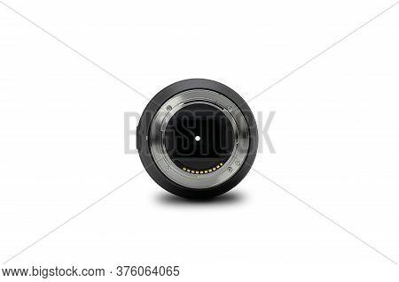 Bangkok, Thailand - 30 Apr 2020, Backside Of The Sony Lens Fe 90mm F2.8 Macro G Oss Is A Full-frame