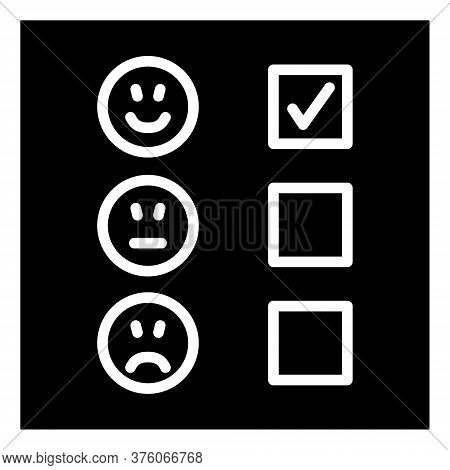 Questionnaire, Survey And Feedback Vector Line Icon.