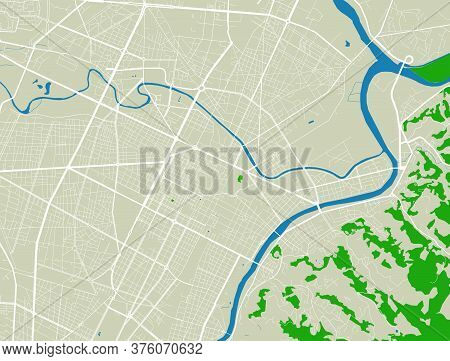 Turin City Map Poster. Map Of Turin Street Map Poster. Turin Map Vector Illustration.