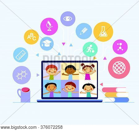 Cartoon Kids On Vector Photo Free Trial Bigstock