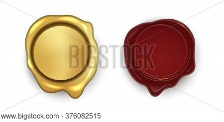 Round Golden Brown Wax Stamp Seal Set. Quality Guarantee And Warranty. Mail Signet. Royal Mark. Excl