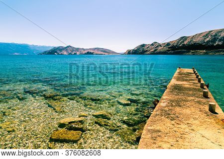 The Bay Of Baska In A Sunny Day