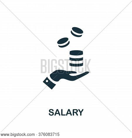 Salary Icon. Simple Element From Business Management Collection. Creative Salary Icon For Web Design