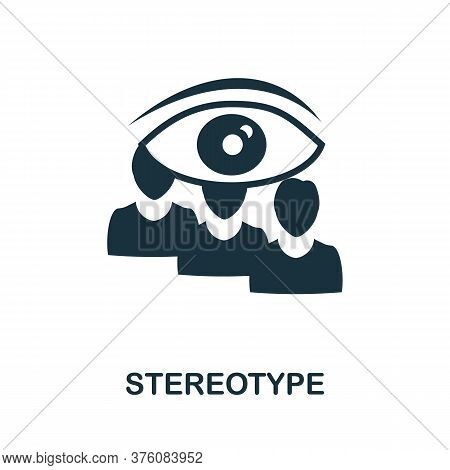 Stereotype Icon. Simple Element From Business Management Collection. Creative Stereotype Icon For We