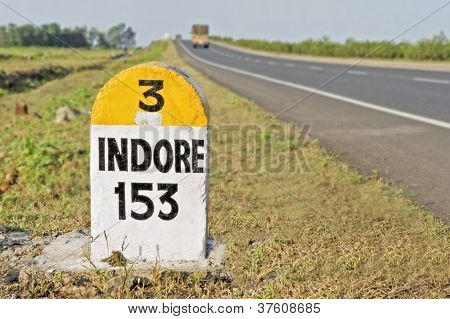153 Kilometers To Indore Milestone