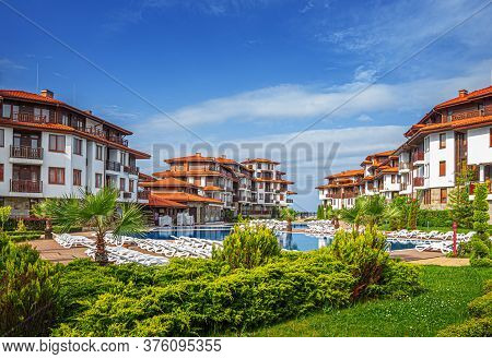 Sozopol, Bulgaria - May 6: Hotel Saint Thomas On The Black Sea Coast On May 6, 2016 In Sozopol, Bulg