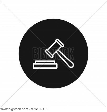Auction Icon Isolated On White Background. Auction Icon In Trendy Design Style For Web Site And Mobi